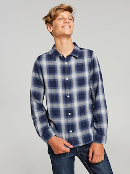Boys Liam Chambray Lined Shirt