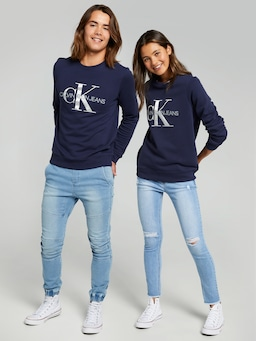 Kids Unisex Calvin Klein Monogram Logo Sweat