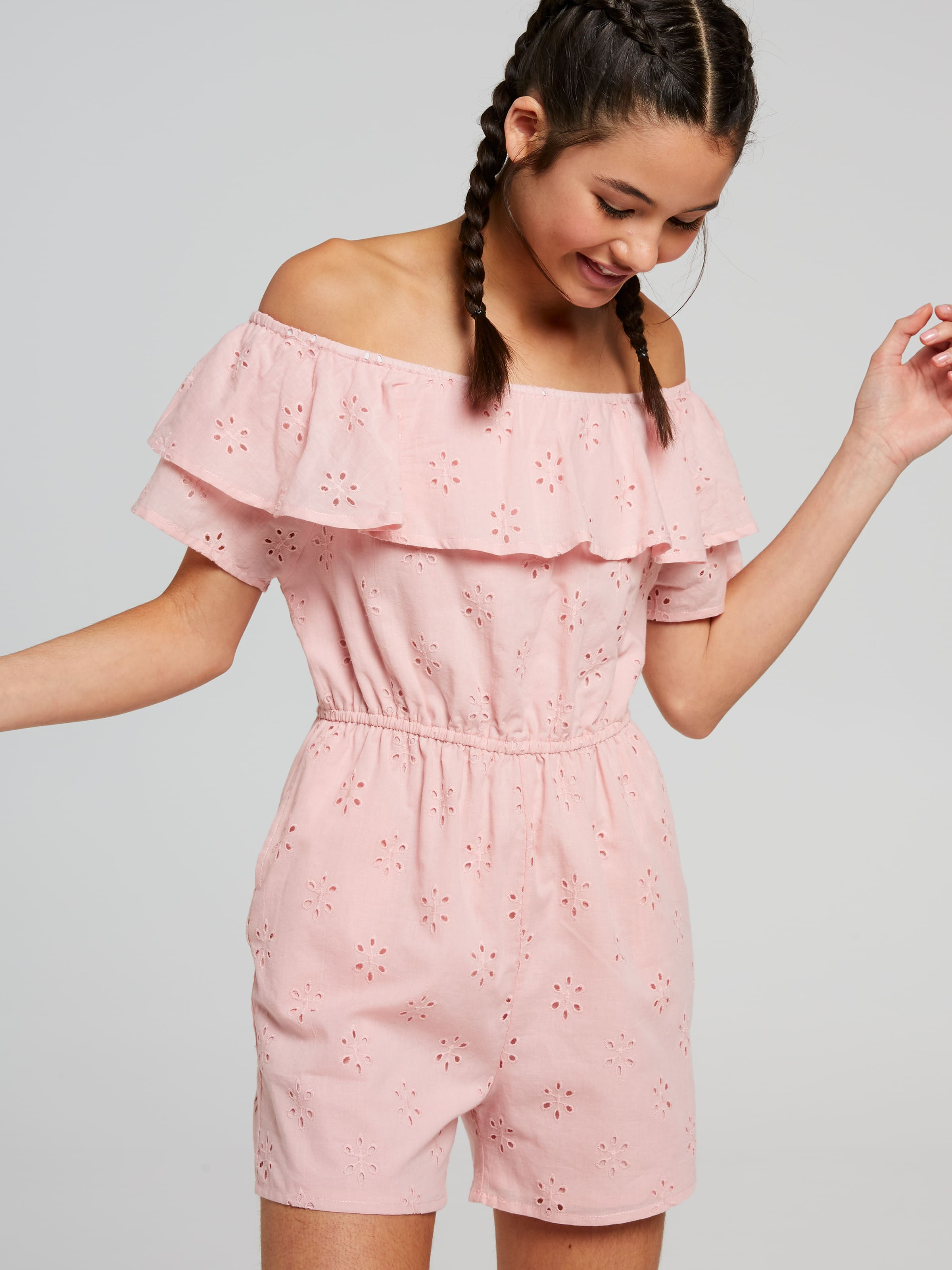 Just Jeans Girls Maddison Frill Playsuit 9239012