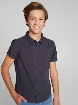 Boys Ryan Geo Print Short Sleeve Shirt