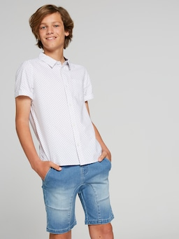 Boys Bryson Geo Short Sleeve Shirt
