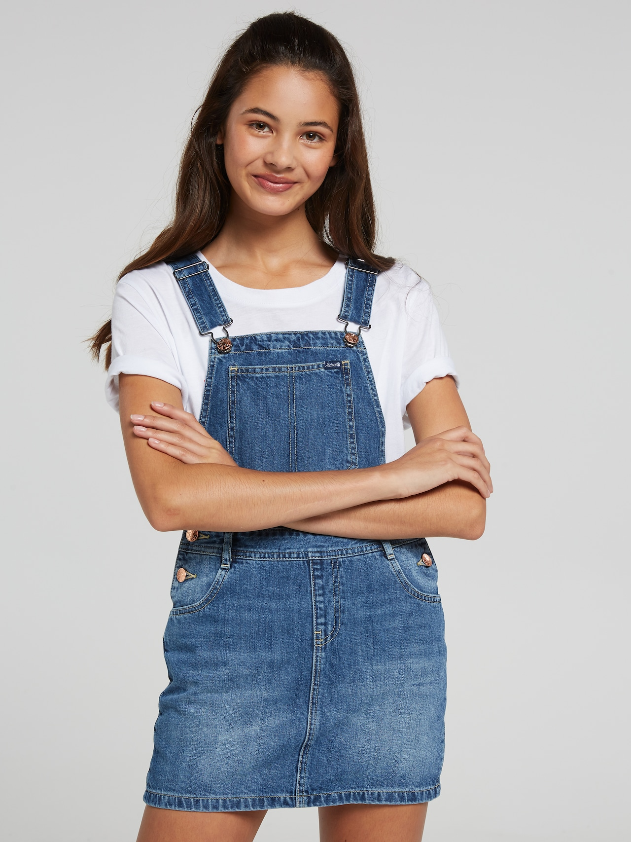 fashionable patterns limited quantity really cheap Just Jeans GIRLS RIDERS DUNGAREE DRESS