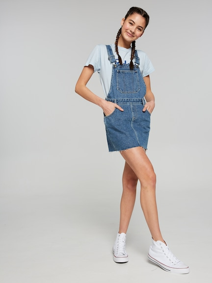 Girls Riders Dungaree Dress