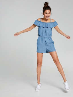 Girls Margot Button Playsuit