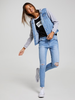 Girls Levis Retro Ringer Tee
