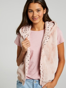 Girls Charlie Slv Teddy Vest