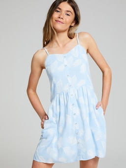 Girls Skylar Shirred Dress