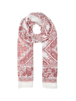 Paige Paisley Border Scarf