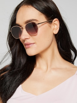 Lulu Hexagon Sunglasses