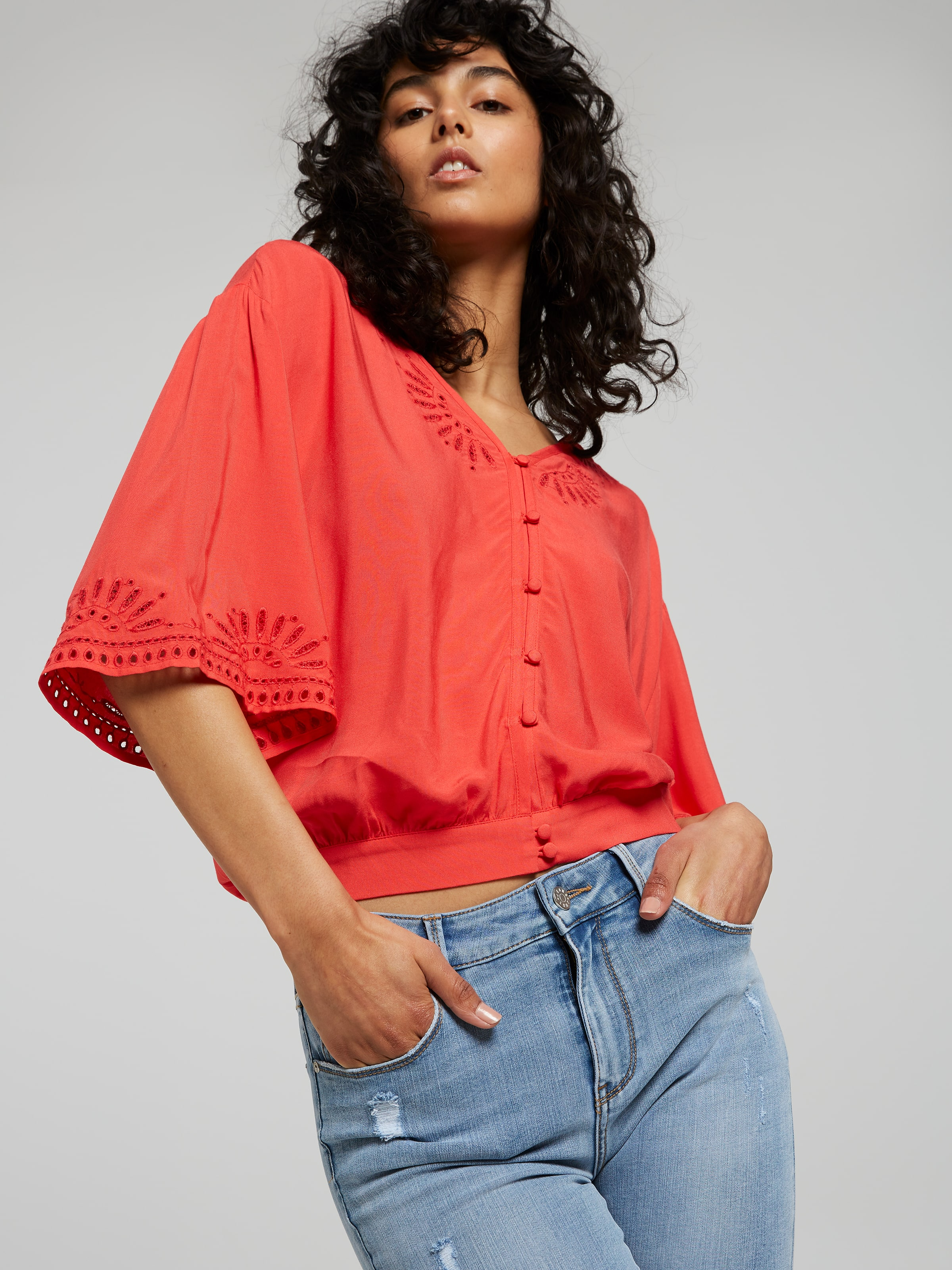 Just Jeans Emily Embroidered Top 10010169