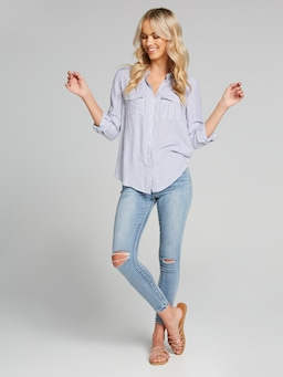 Kourtney Ls Button Thru Shirt