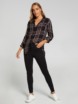 Kourtney Long Sleeve Button Thru Shirt