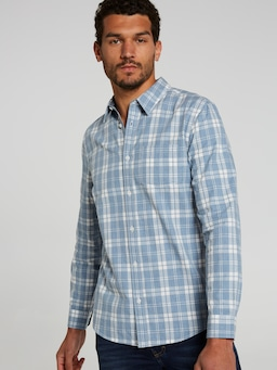 Long Sleeve Light Twill Check
