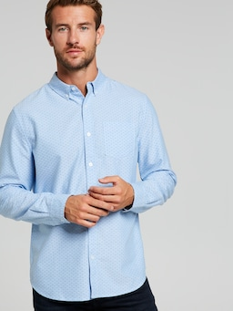 Oxford Print Long Sleeve Shirt