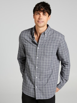 Long Sleeve Twill Pow Check Shirt