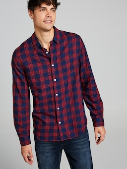 Indigo Check Long Sleeve Shirt