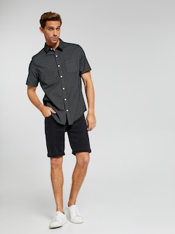 Short Sleeve Poplin Print Shirt