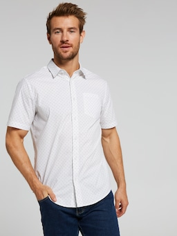 Short Sleeve Stretch Print Shirt