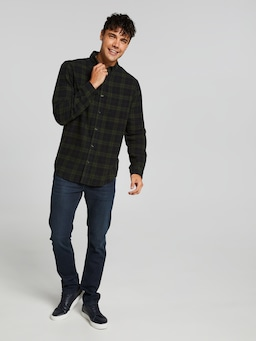 Long Sleeve Flannel Vintage Check Shirt