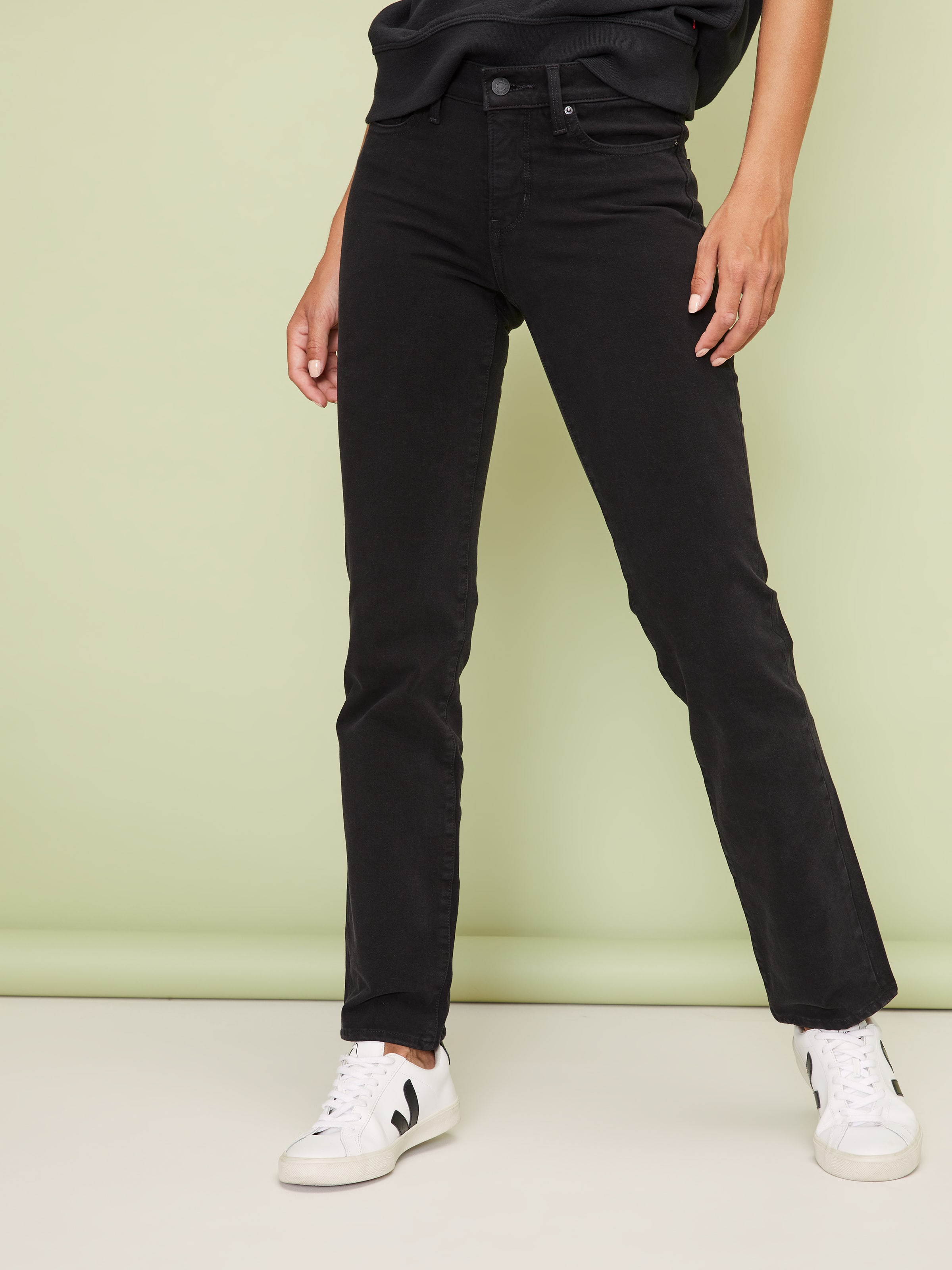 9a65defff020 Levi's 314 Shaping Straight In Black - Just Jeans Online