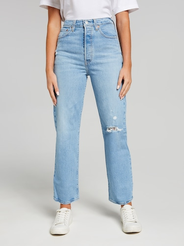 Levis Ribcage Straight Georgie Blue