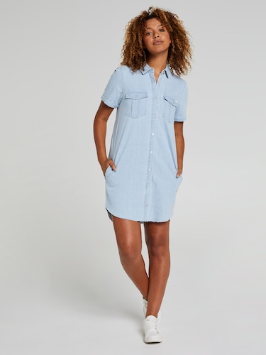 492fb09f0c0 Riders By Lee Shirt Dress In Splendour Blue ...