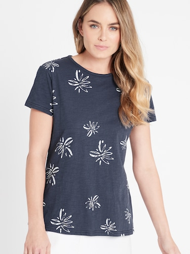 Mavi Romy Tee In Navy Flower