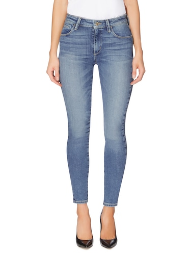 Guess Mid Rise Skinny Jean In Light Medium Wash