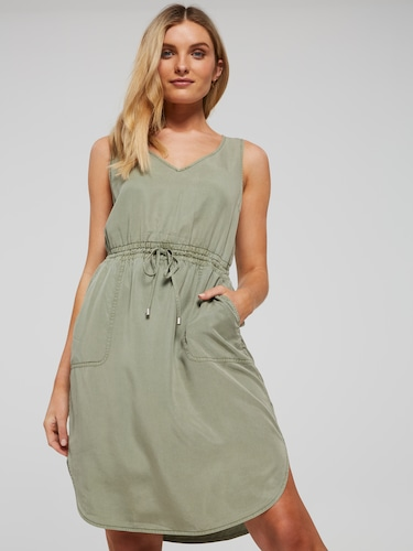 Maddie Lyocell Midi Dress