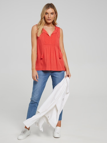Eva Embroidered Top