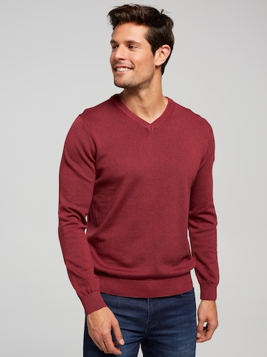 Fine Gauge V Neck Knit