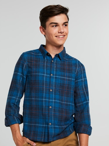 Boys Oliver Flannel Long Sleeve Shirt