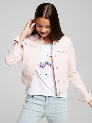 Girls Lana Pink Denim Jacket