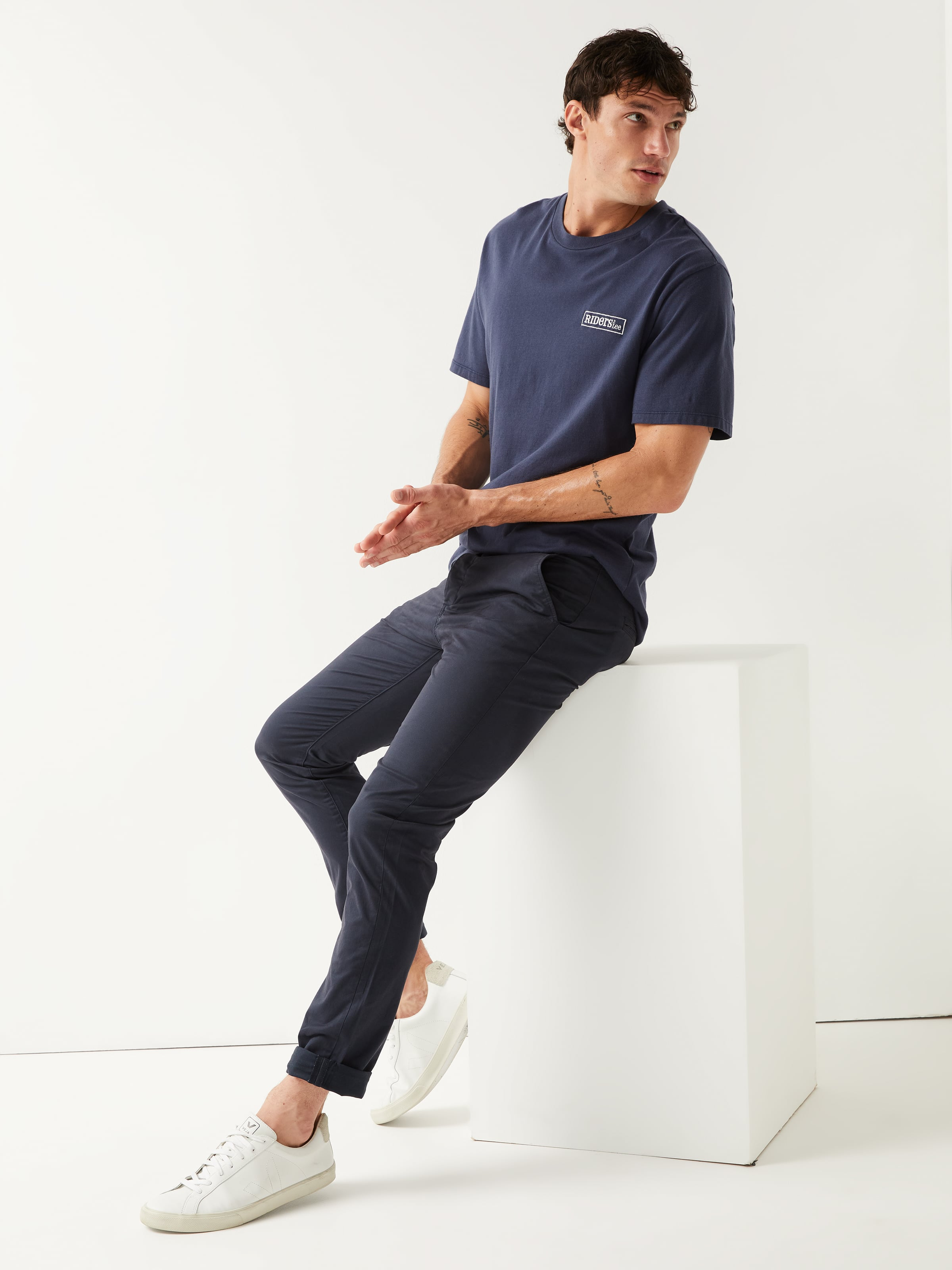 Riders By Lee Stretch Chino In Navy