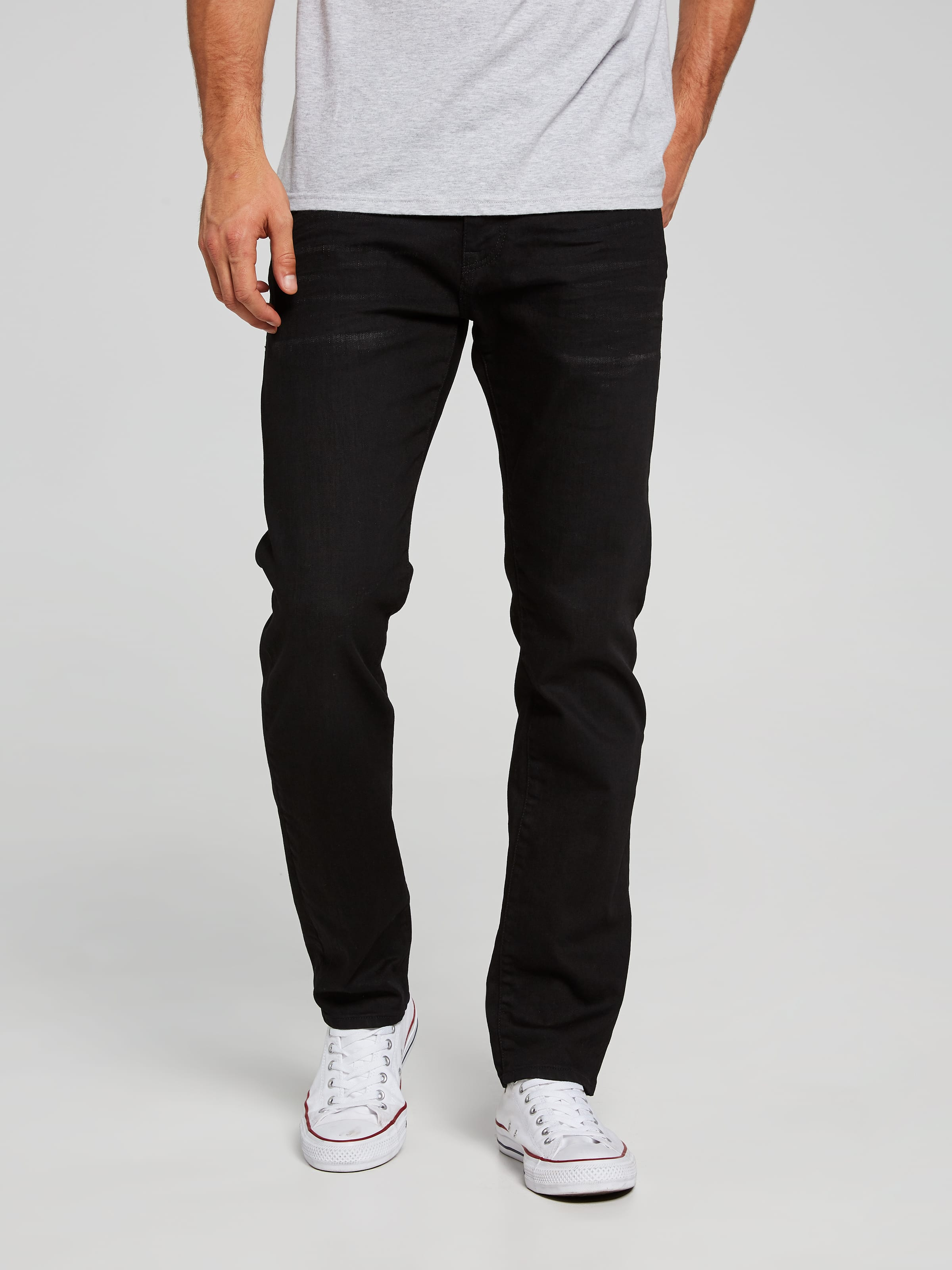 Mavi Marcus Slim Jean In Smoke Black