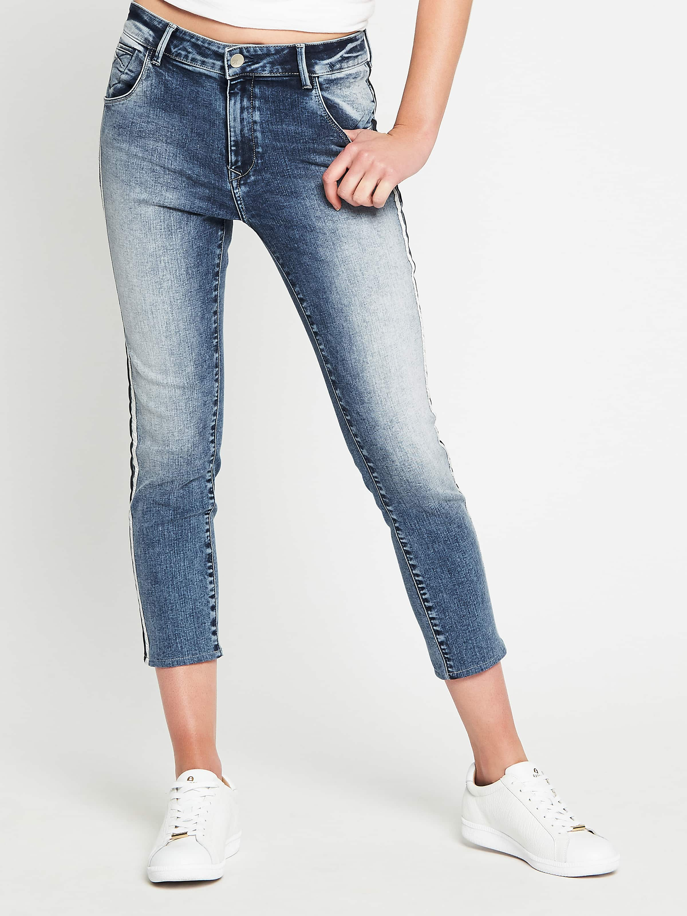 Mavi Alissa High Rise Skinny Ankle In Mid Random Active Stretch