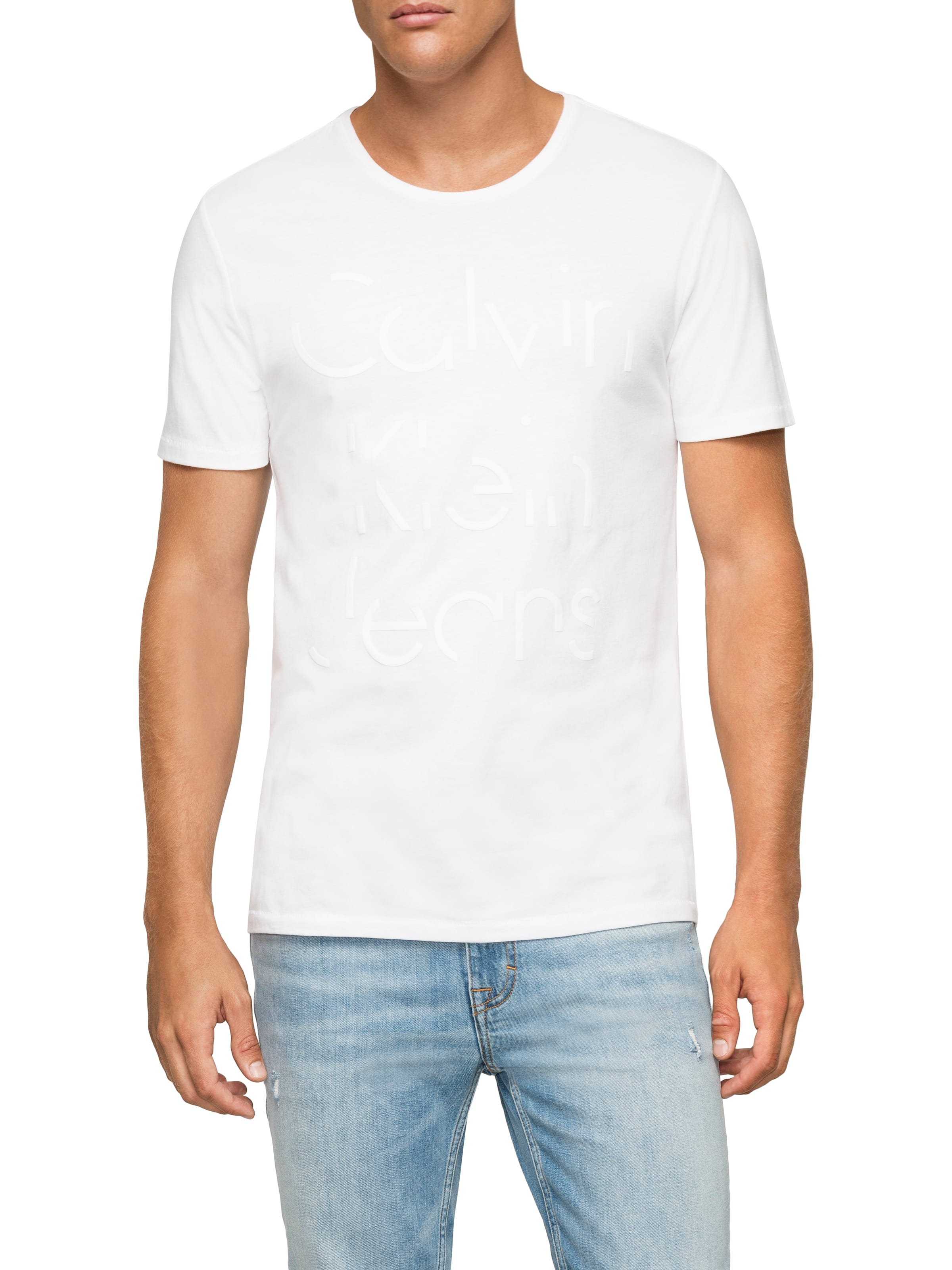 Calvin Klein Hd Crew Tee In White