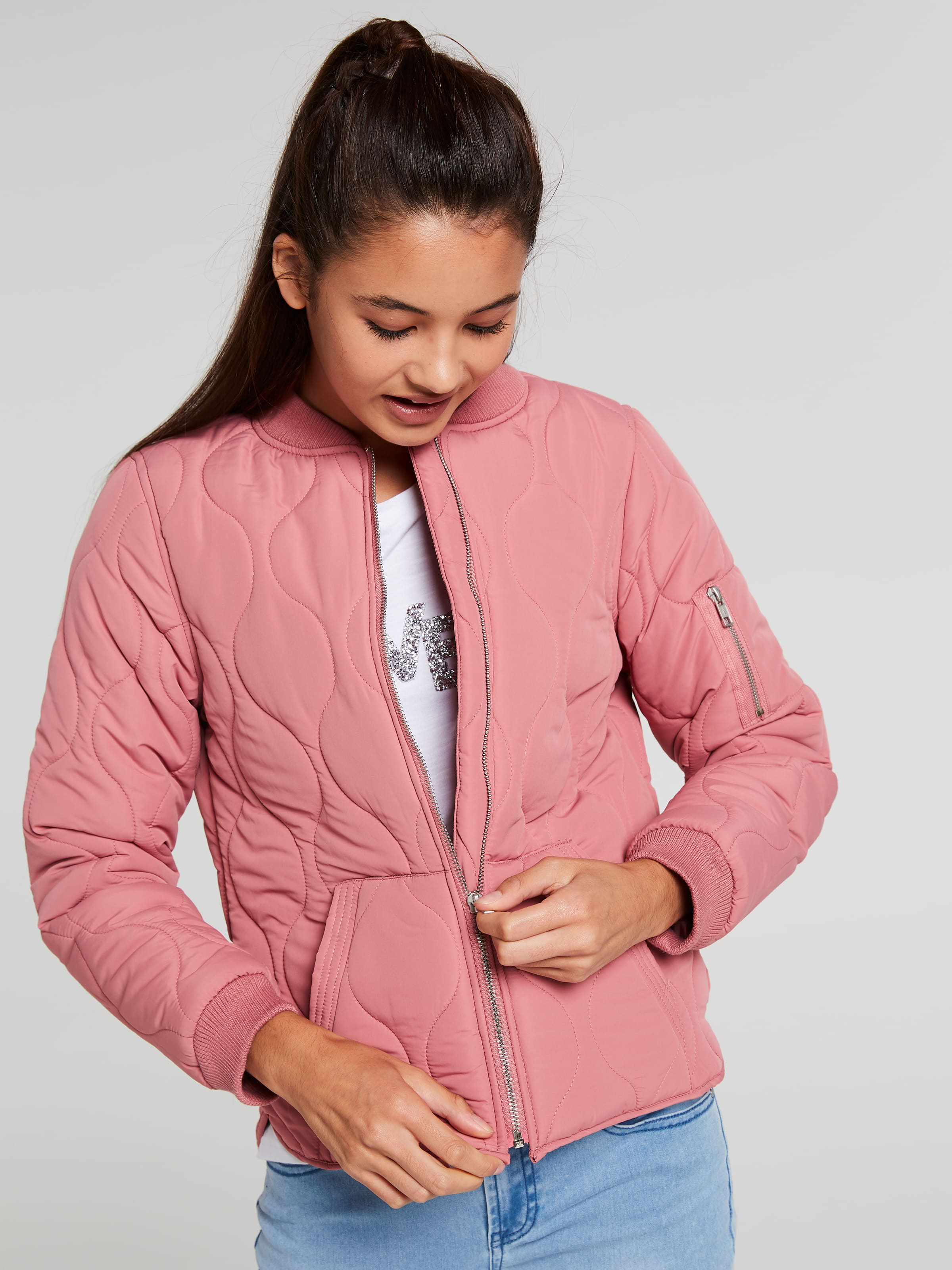 Girls Lara Quilted Bomber