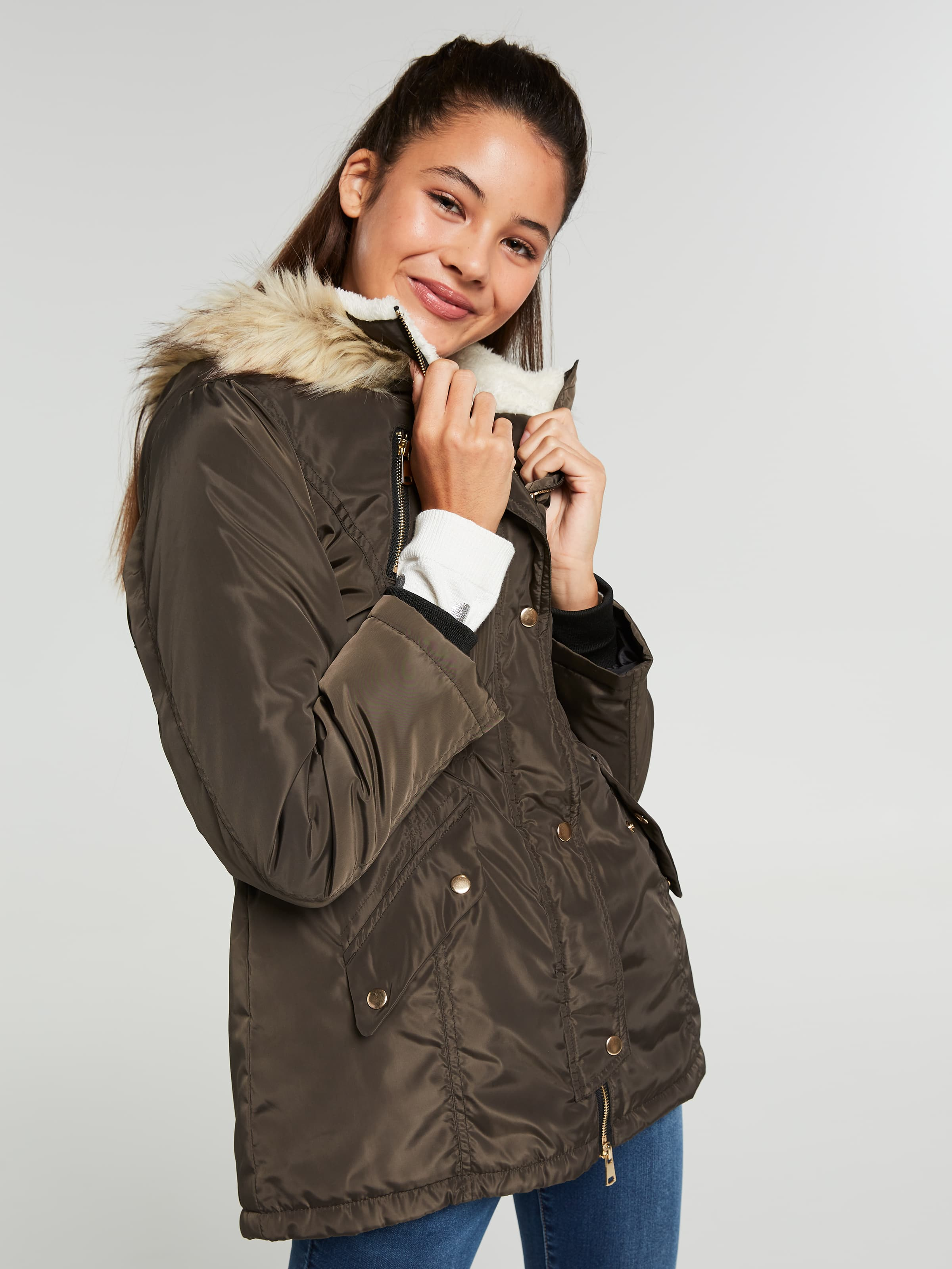 Girls Dana Fur Hood Anorak