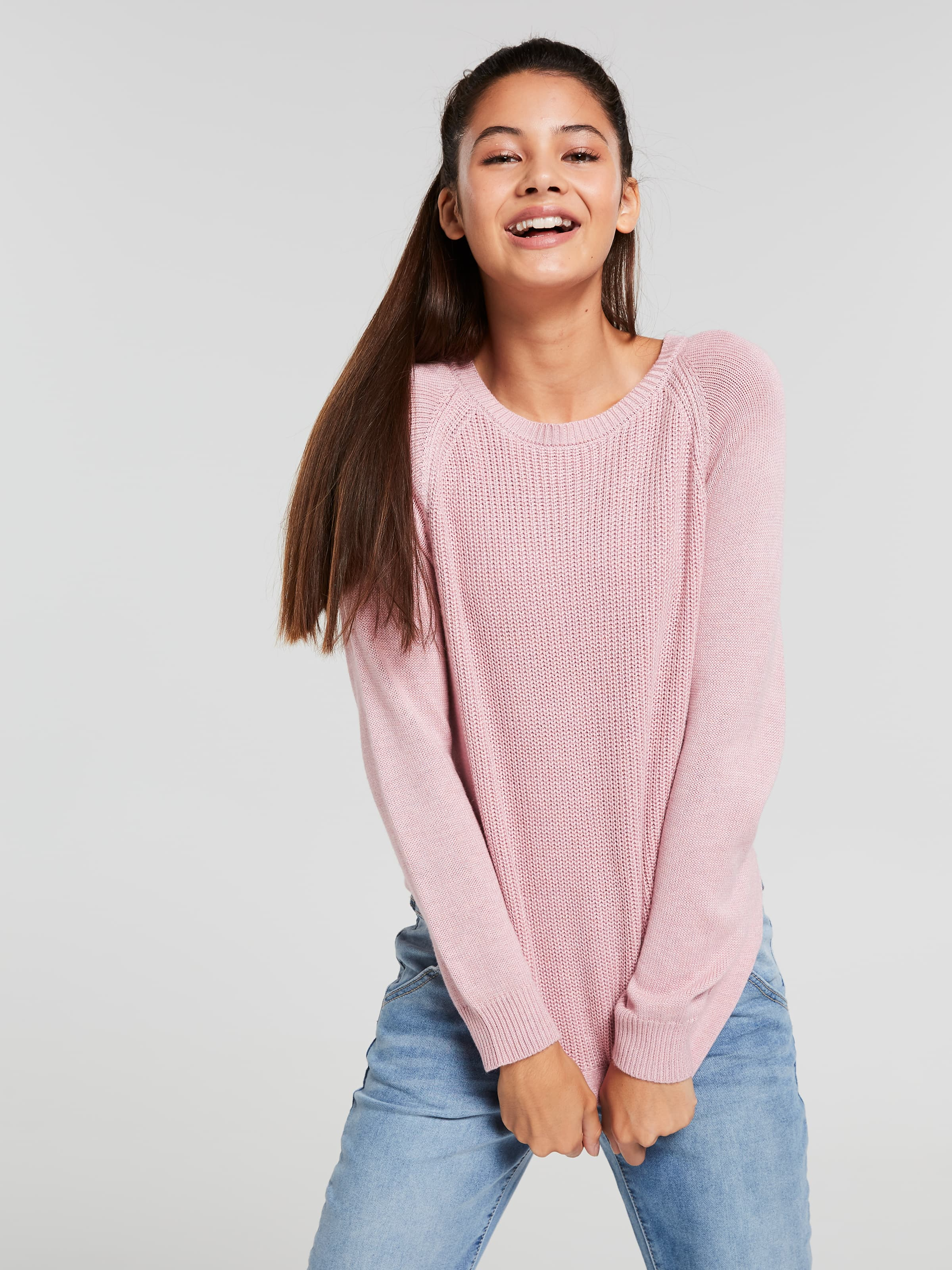 Girls Jojo Scoop Hem Knit
